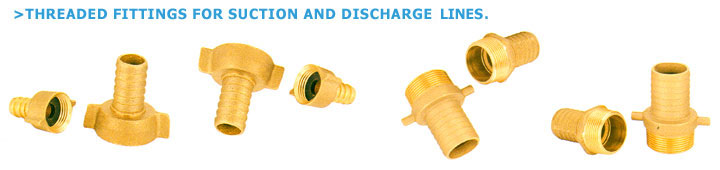 Threadle Fittings For Suction And Discharge Lines